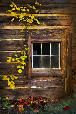 Cabin Window Photograph - Window To The Soul by Debra and Dave Vanderlaan