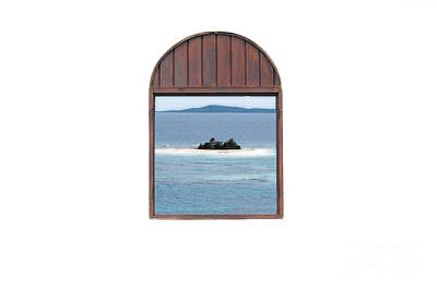 Window View Of Desert Island Puerto Rico Prints Diffuse Glow Print by Shawn O'Brien