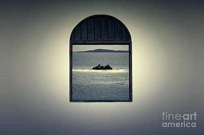 Window View Of Desert Island Puerto Rico Prints Lomography Print by Shawn O'Brien