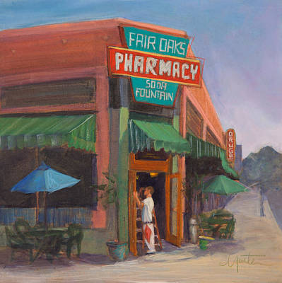 Pharmacy Painting - Window Washer by Athena  Mantle