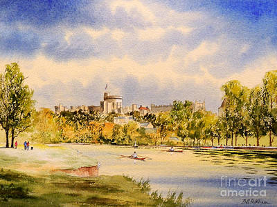 Windsor Castle And Thames Print by Bill Holkham