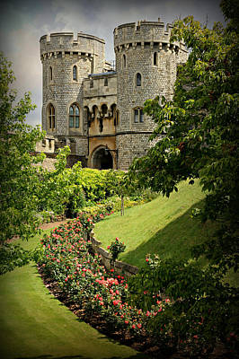 Moat Photograph - Windsor Castle Gardens by Stephen Stookey