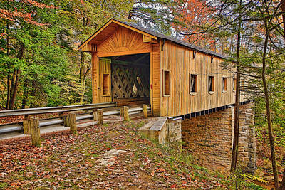 Amish Photograph - Windsor Covered Bridge by Marcia Colelli