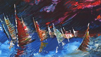 Windsurf Impression 05 Print by Miki De Goodaboom