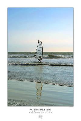 Seascape Photograph - Windsurfing Art Poster - California Collection by Ben and Raisa Gertsberg