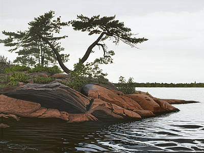 Muskoka Painting - Windswept by Kenneth M  Kirsch