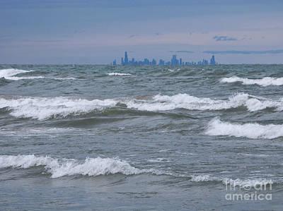 Windy City Skyline Print by Ann Horn