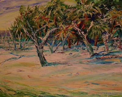 Windy Day At Botany Island Print by Dorothy Allston Rogers