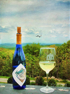 Wine And A View Print by Darren Fisher