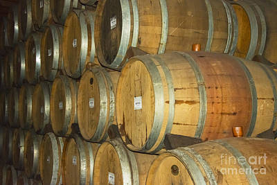 Sattui Photograph - Wine Barrels by Bob Phillips