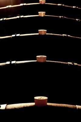 Wine Barrels Print by Mauro Fermariello