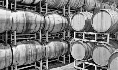 Central Coast Winery Photograph - Wine Barrels by Richard Cheski