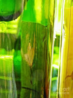 Wine Bottles 21 Print by Sarah Loft
