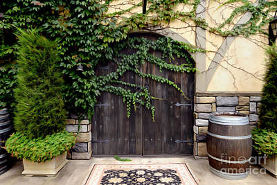 Wine Cellar Doors Print by Jon Neidert