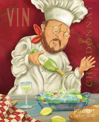 Wine Chef IIi Print by Shari Warren