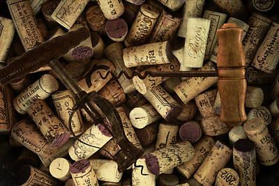 Fine Wine Corks And Screws Print by Daniel Hagerman