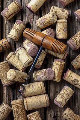 Wine Corks Celebration Print by Garry Gay