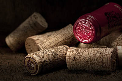 Wine Corks Still Life Iv Print by Tom Mc Nemar
