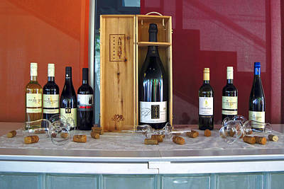 Wine Display Print by Sally Weigand