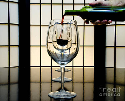 Wine Service Photograph - Wine For Three by John Debar