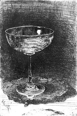 Wine Glass 1860 Print by Padre Art