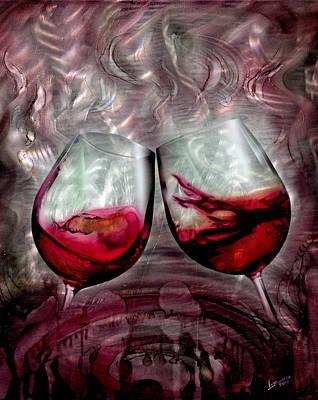 Wine Glass 2 Print by Luis  Navarro