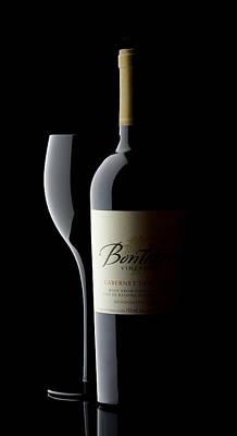 Wine Glass Photograph - Wine Glass And Bottle by Patrick Chuprina