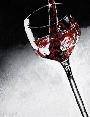 Wine Glass Original by Mark Stiles