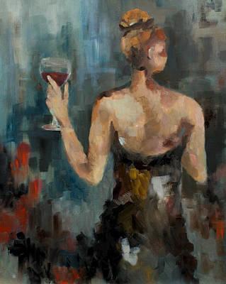 Wine Glass Original by Nicole Roggeman