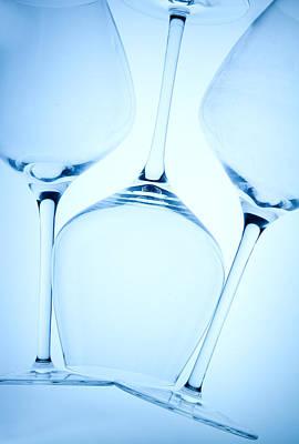 Wine Glasses 1 Print by Rebecca Cozart