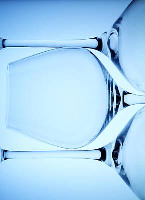 Wine Glasses 4 Print by Rebecca Cozart
