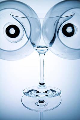 Wine Glasses 9 Print by Rebecca Cozart