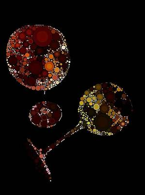 Purple Grapes Digital Art - Wine Glasses  by Cindy Edwards