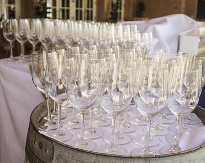 Wine Glasses Print by Dee  Savage