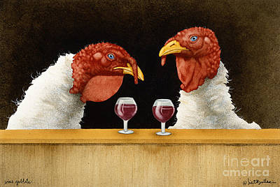 Wine Bar Painting - Wine Goblets... by Will Bullas