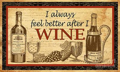 Wine-jp1581b Print by Jean Plout