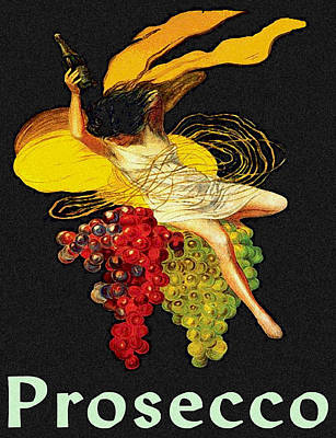 Wine Maid Prosecco Poster Print by Jerry Schwehm