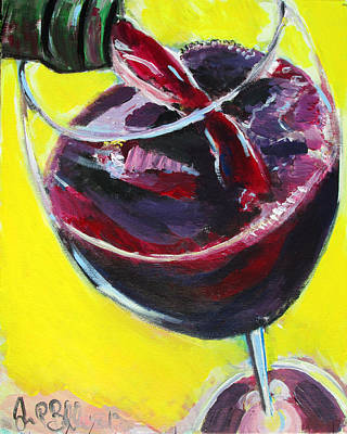 Painting - Wine Pour  by Jon Baldwin  Art