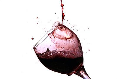 Wine Pour Print by Michael Ledray