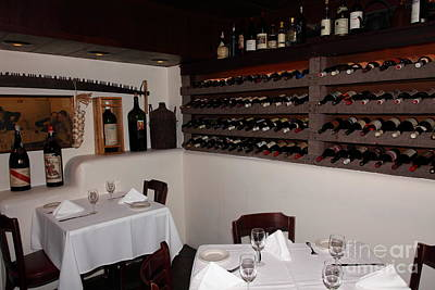 Wine Cellar Photograph - Wine Rack And Dining Tables In The Private Dining Room At The Swiss Hotel Sonoma California 5d24463 by Wingsdomain Art and Photography
