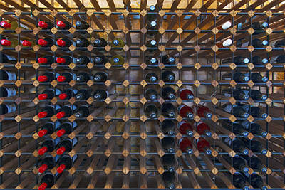 Wine Rack  Print by Casey Grant
