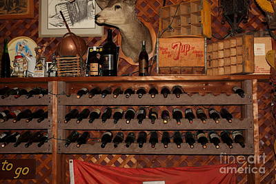 Wine Cellar Photograph - Wine Rack In The Cellar Room At The Swiss Hotel In Sonoma California 5d24449 by Wingsdomain Art and Photography