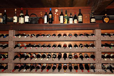 Wine Cellar Photograph - Wine Rack In The Private Dining Room At The Swiss Hotel In Sonoma California 5d24461 by Wingsdomain Art and Photography