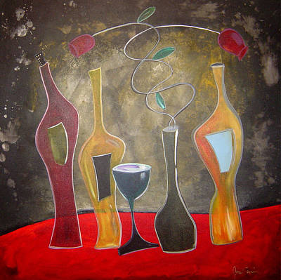 Gino Painting - Wine Shadows by Gino Savarino
