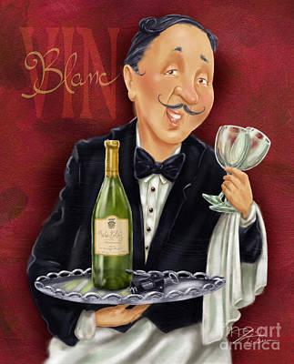 Wine Sommelier Print by Shari Warren