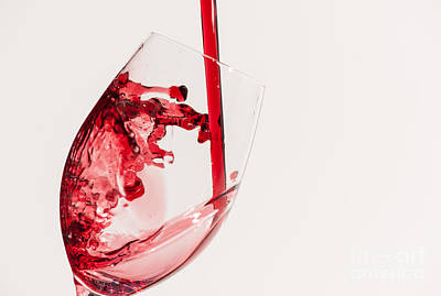 Food And Beverage Photograph - Wine Splash by Tod and Cynthia Grubbs