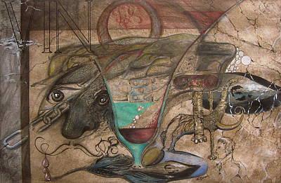 Wine Through Centuries Print by Geni Gorani