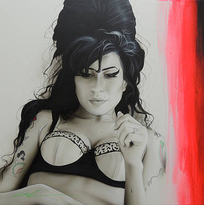 Amy Winehouse - ' Winehouse ' Print by Christian Chapman Art