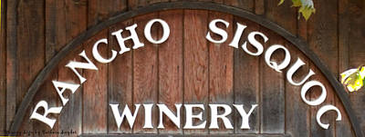 Winery Sign Print by Barbara Snyder