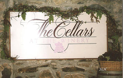 Winery Sign Original by Lee Hartsell